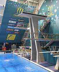 The diving boards at Manchester 2002