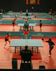 Women's table tennis event