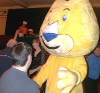 Picture of our Mascot, Kit, dancing